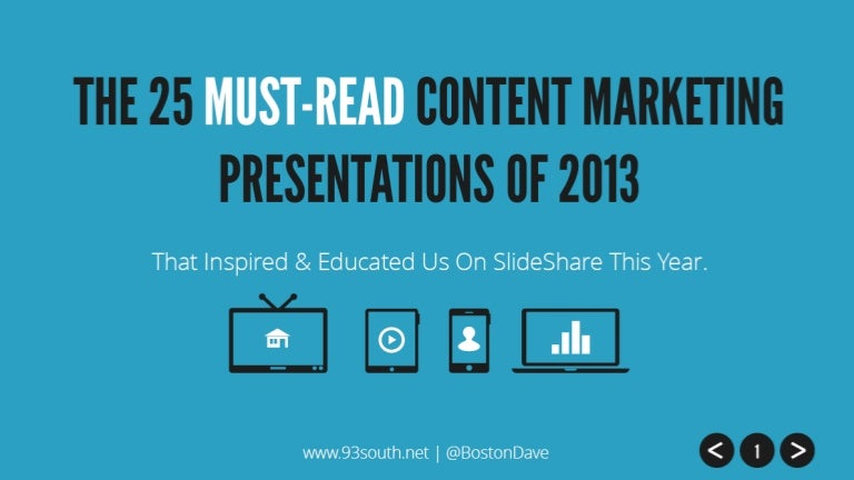 The  MustRead Content Marketing Presentations Of