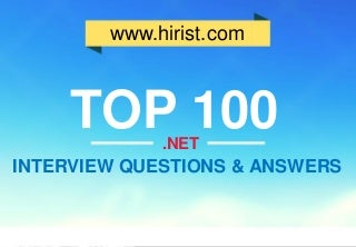 Top 100.NET Interview Questions and Answers