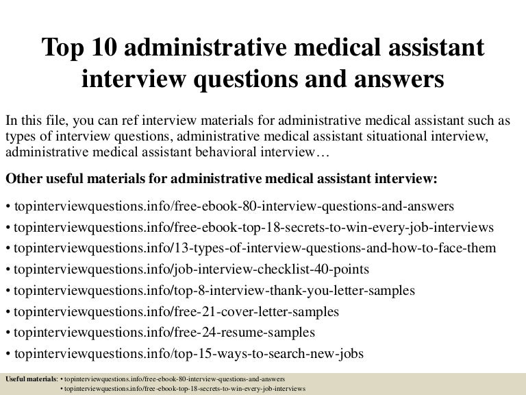 Medical assistant administration administrative medical assistant top 10 administrative medical assistant interview questions and answe fandeluxe Gallery