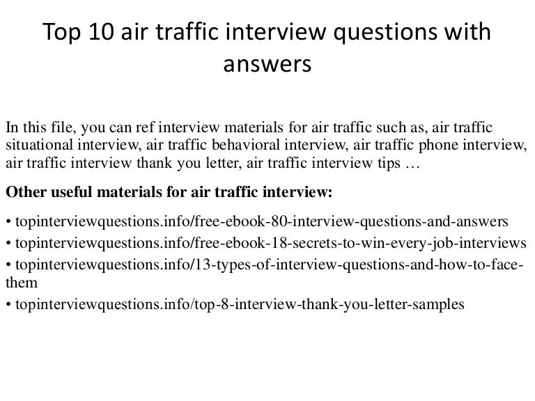 top 10 air traffic interview questions with answers - Air Traffic Control Engineer Sample Resume