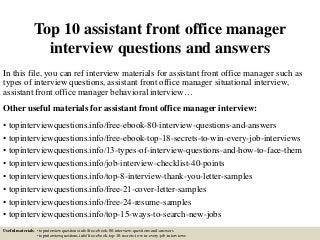Front Office Manager   LinkedIn