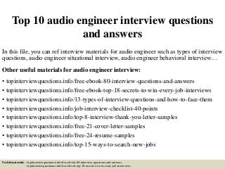 Audio Engineer Cover Letter Sound Engineer Video Engineer Resume Audio  Engineer New New ANDREW T MEZZI