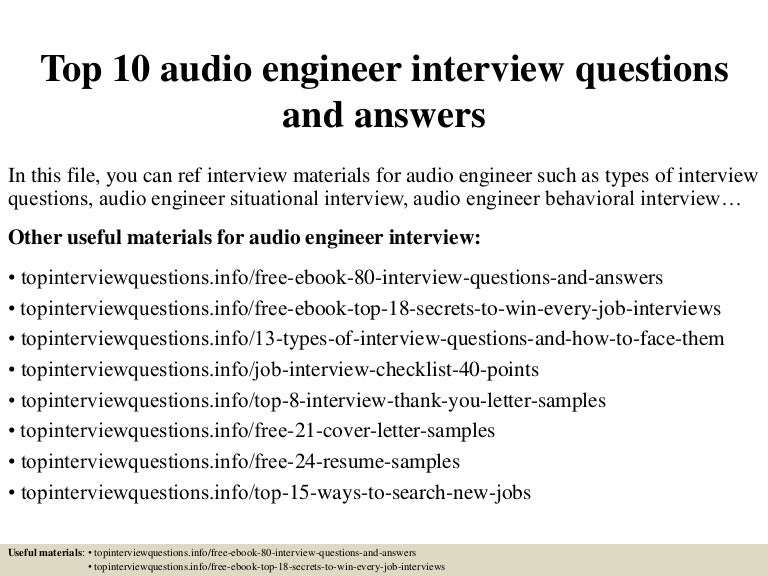 Top 5 Sound Engineer Cover Letter Samples. Best Recording ...