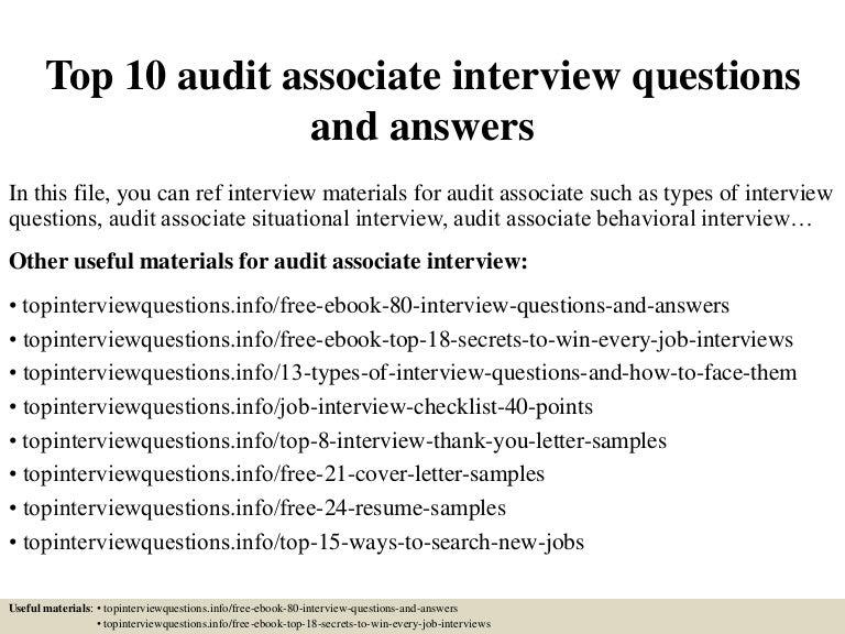 It audit associate resume