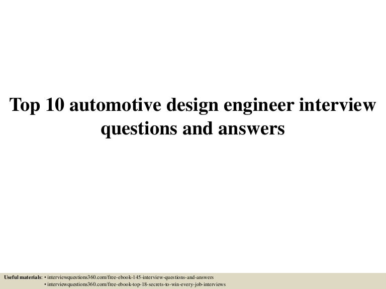 Top10automotivedesignengineerinterviewquestionsandanswers 150602023532 Lva1 App6892 Thumbnail 4cb1433212581