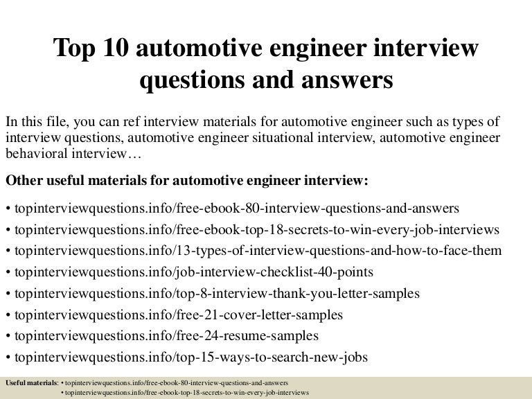 Top10automotiveengineerinterviewquestionsandanswers 150405084856 Conversion Gate01 Thumbnail 4?cbu003d1428223750