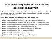 Top 10 compliance coordinator interview questions and answers - Compliance officer interview ...