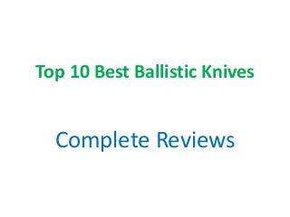 Top 10 best ballistic knives