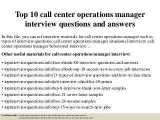 Call Center Operations | LinkedIn