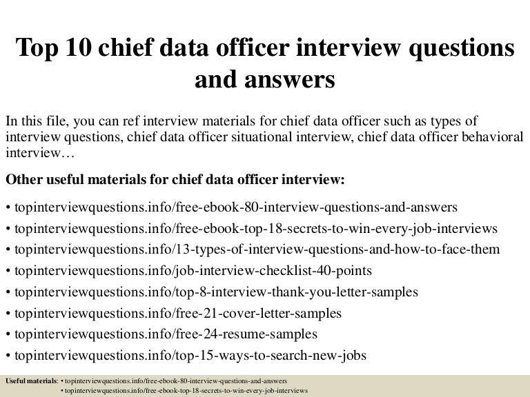 top10chiefdataofficerinterviewquestionsandanswers 150317031045 conversion gate01 thumbnail 4jpgcb1426579895 - Data Officer Sample Resume
