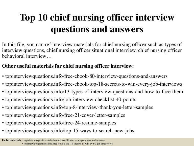 chief nursing officer job description
