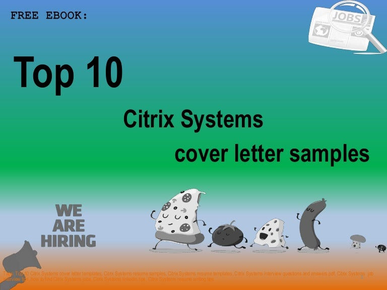 Top 10 citrix systems cover letter samples