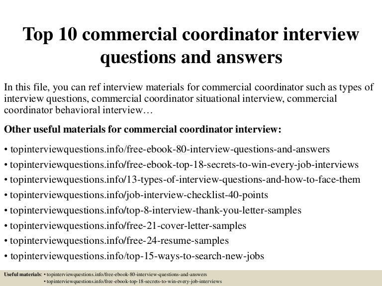 top10commercialcoordinatorinterviewquestionsandanswers150319195350conversiongate01thumbnail4jpgcb 1426795289 – Payroll Coordinator Job Description