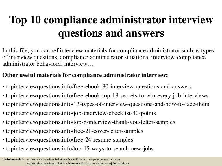 Top10complianceadministratorinterviewquestionsandanswers 150319091546 Conversion Gate01 Thumbnail 4cb1426756600
