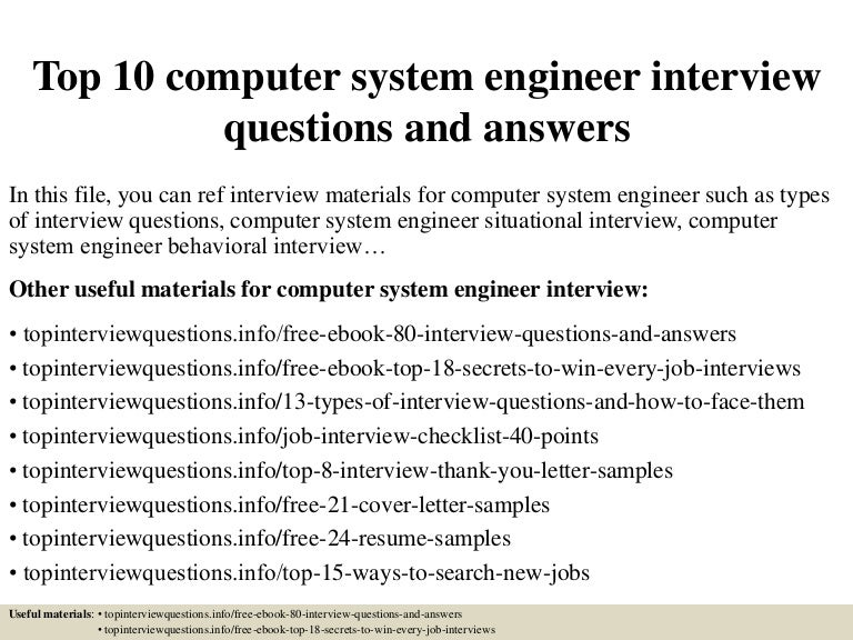 top10computersystemengineerinterviewquestionsandanswers150321194304conversiongate01thumbnail4jpgcb 1426967162 – Systems Engineer Job Description