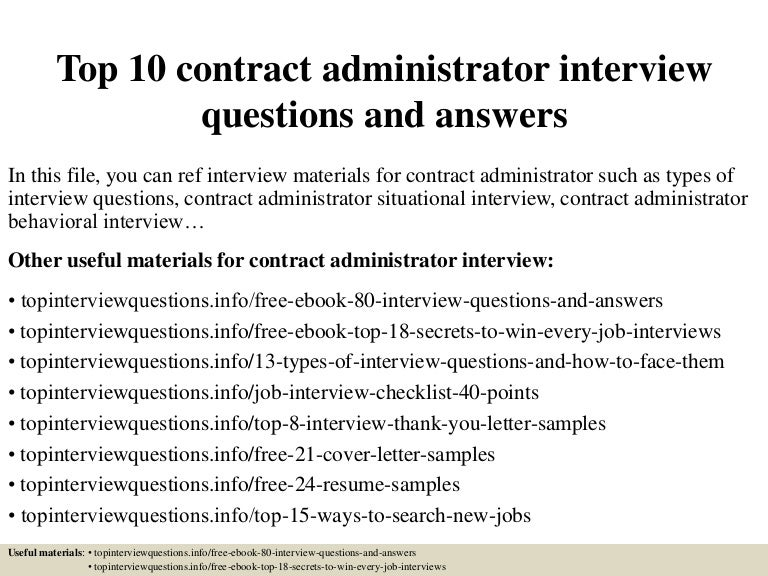 Contract Administration Job Description