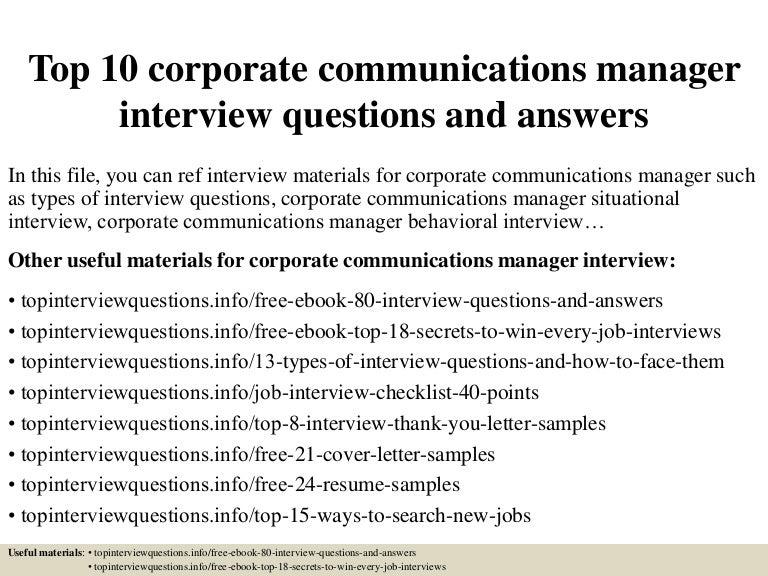 corporate communication resumes
