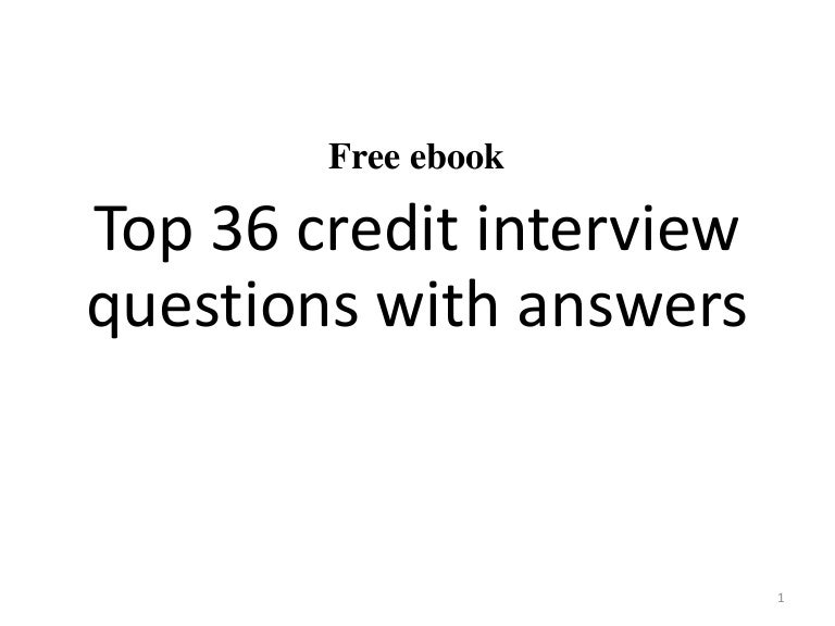 top 36 credit interview questions with answers pdf - Financial Advisor Interview Questions And Answers