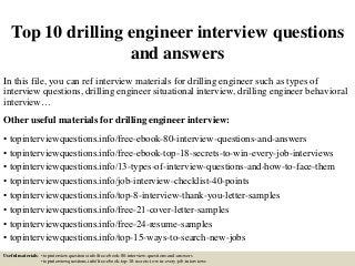 drilling engineer linkedin - Drilling Engineer Sample Resume