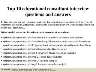 Educational Consultant   LinkedIn