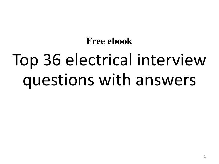 Top 36 electrical interview questions with answers pdf greentooth Images
