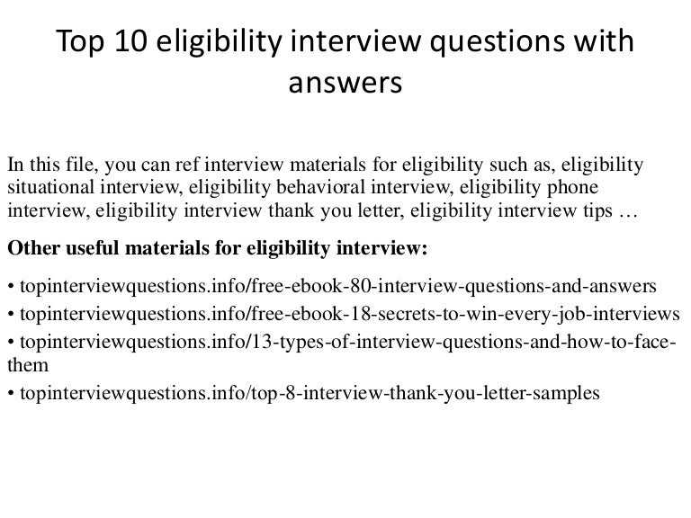 top 10 eligibility interview questions with answers - Medical Interview Questions Answers Guide Skills