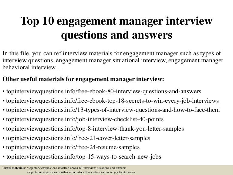general manager certificate interview questions and answers pdf