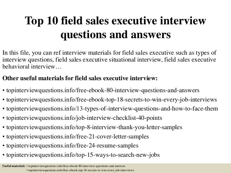 What is a field sales executive?