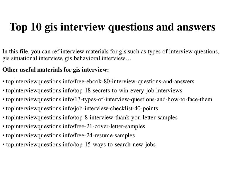 top 10 gis interview questions and answers