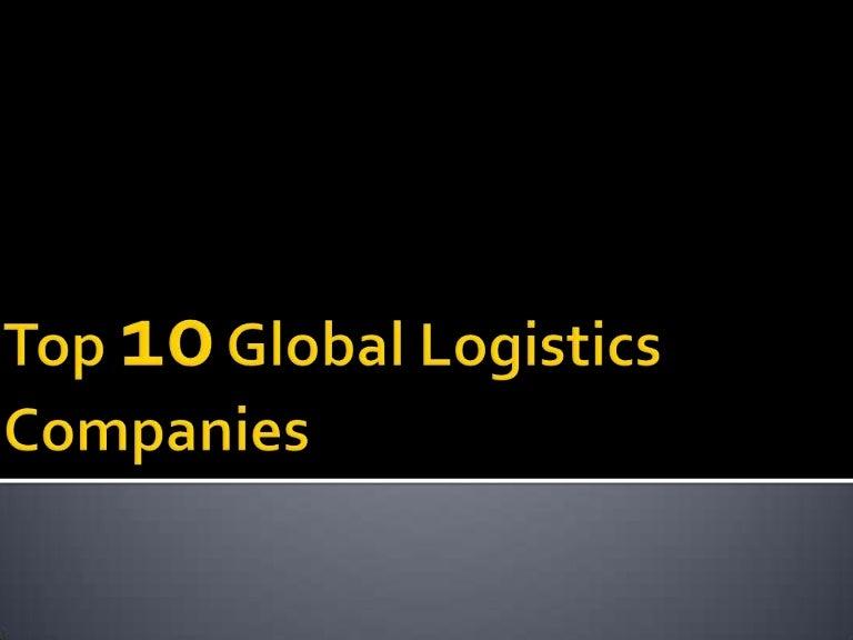Top 10 Global Logistics Companies