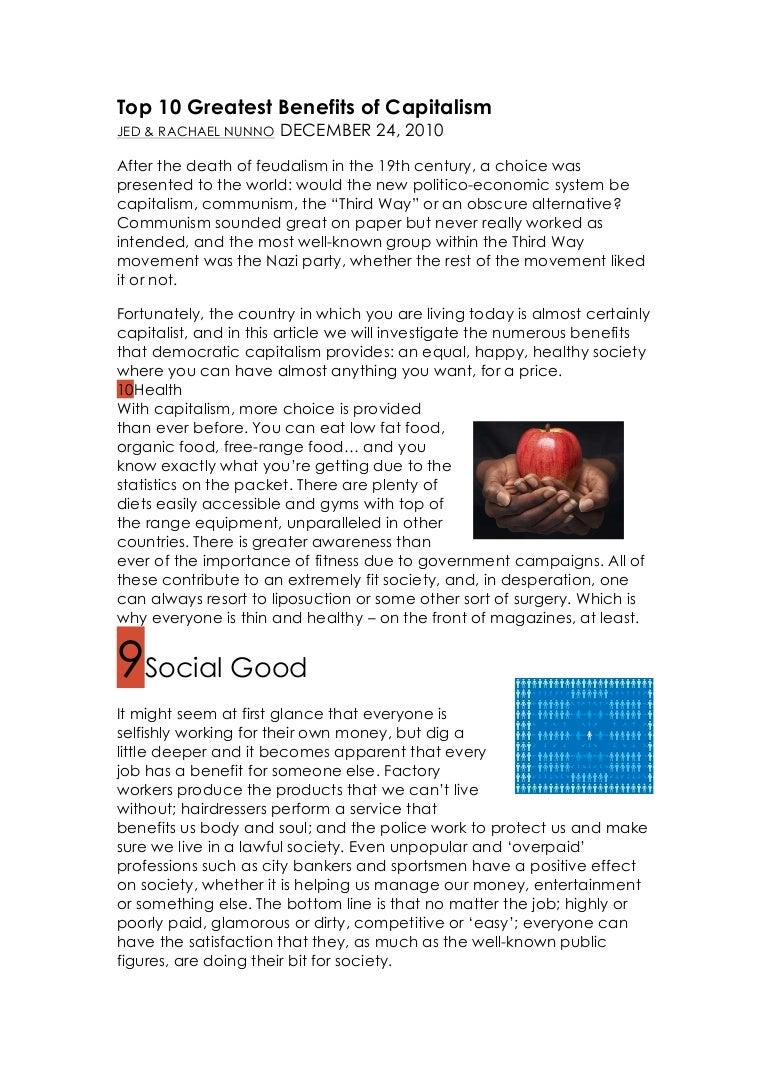 top 10 greatest benefits of capitalism