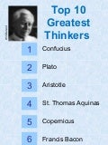 Top 10 Greatest Thinkers of All Time