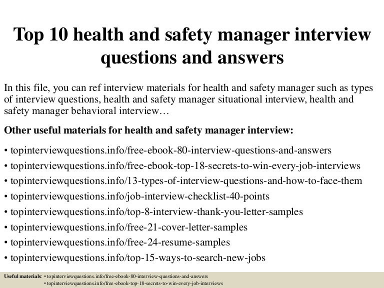 top10healthandsafetymanagerinterviewquestionsandanswers150331224617conversiongate01thumbnail4jpgcb 1427860019 – Safety Director Job Description