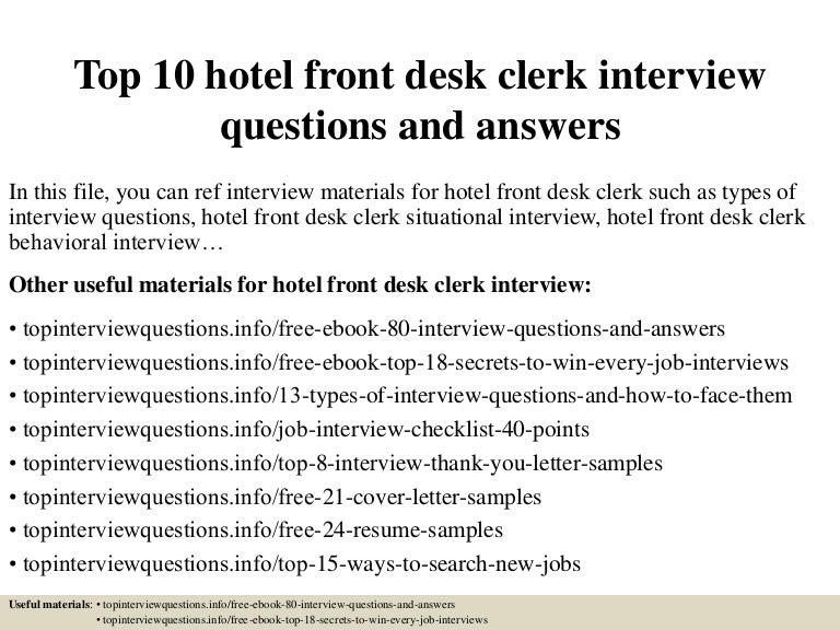 Custom report - Infinite Kind Support front desk clerk cover letter ...