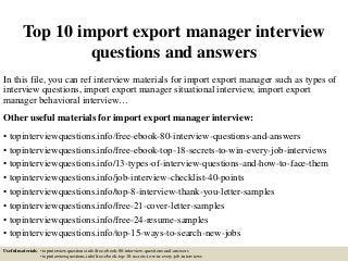 Import Export Manager | LinkedIn