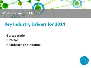 Top 10 pharma industry drivers for 2014 by IHS Healthcare & Pharma