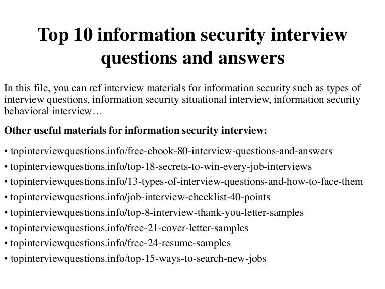 Security consulting ebook 80 off choice image free ebooks and more top10informationsecurityinterviewquestionsandanswers 150107205920 conversion gate02 thumbnail 4gcb1420686213 fandeluxe choice image fandeluxe Images
