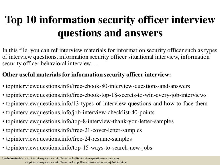 Lovely Security Officer Interview Questions #8: SlideShare