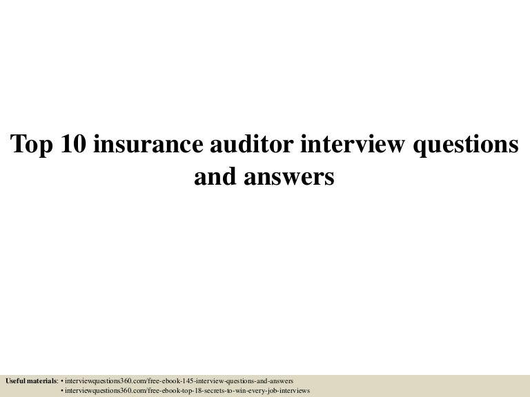 insurance audit interview questions  Top 10 insurance auditor interview questions and answers