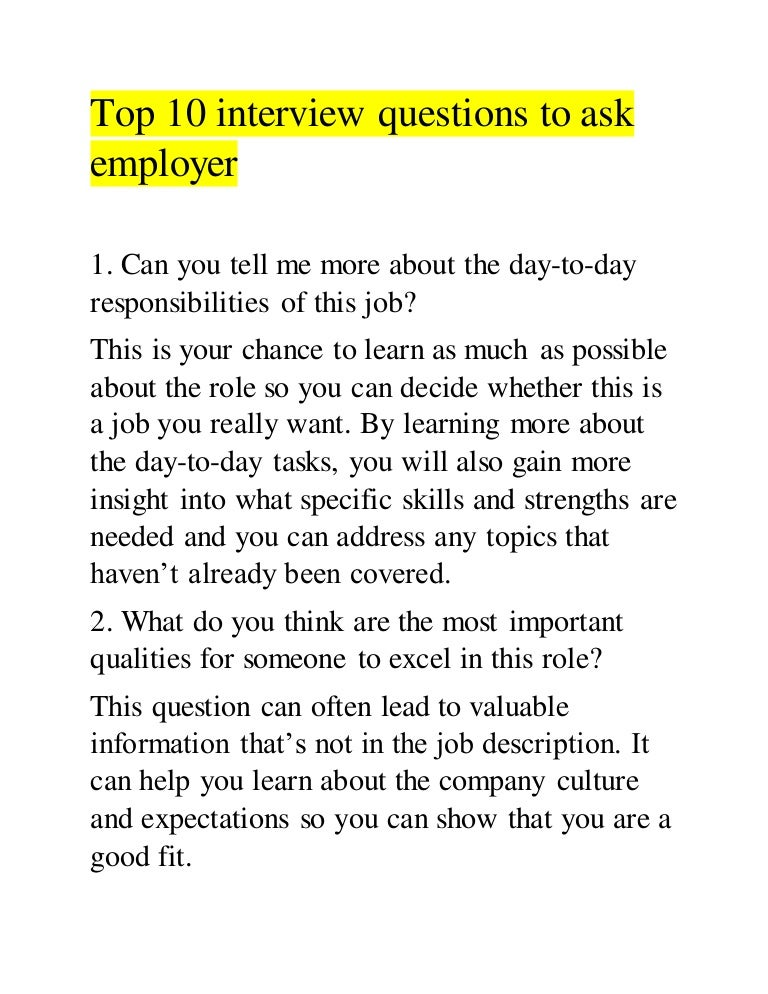 interview essay questions to ask