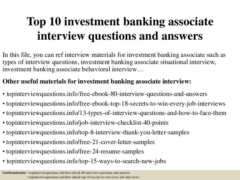 Top10investmentbankingassociateinterviewquestionsandanswers 150319102921 Conversion Gate01 Thumbnail 4?cbu003d1426761275