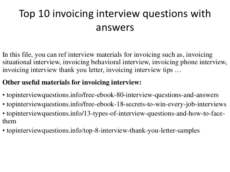 Top Invoicing Interview Questions With Answers - Invoice bill format coach outlet store online free shipping