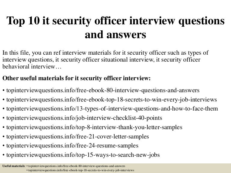 Ordinary Security Officer Interview Questions #2: SlideShare