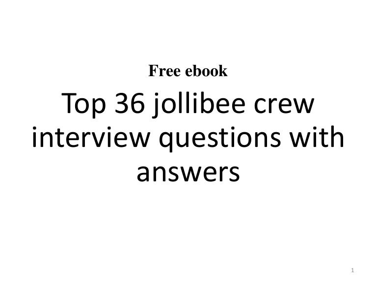 Resume Resume Sample In Jollibee top 36 jollibee crew interview questions and answers pdf