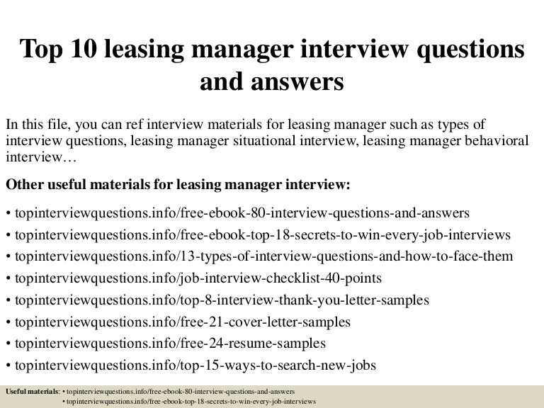 top10leasingmanagerinterviewquestionsandanswers150317025524conversiongate01thumbnail4jpgcb 1426578986 – Leasing Consultant Jobs