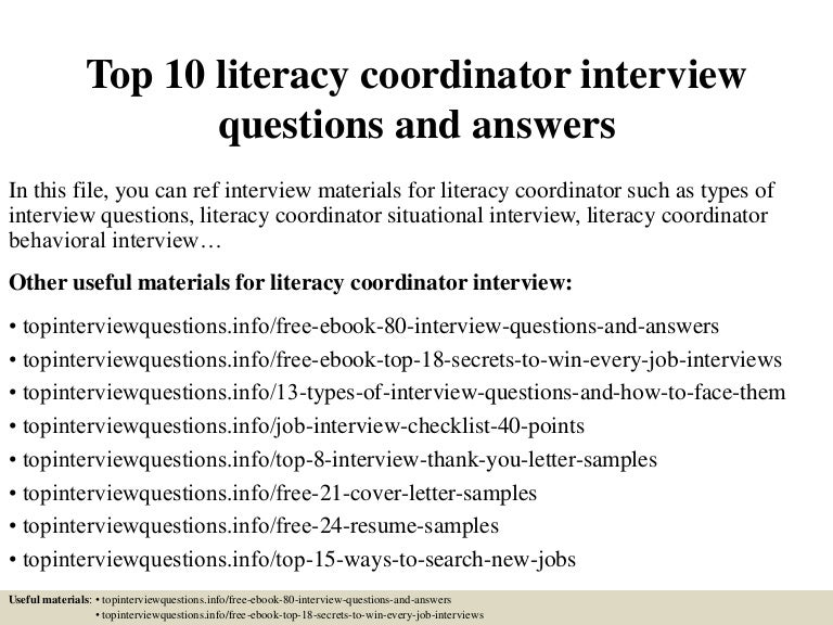 Job advert template ks2 ebook array top 10 literacy coordinator interview questions and answers rh slideshare net top10literacycoordinatorinterviewquestionsandanswers 150324074020 fandeluxe Gallery