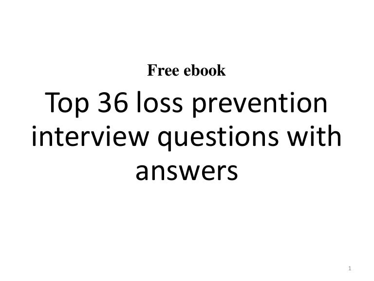 Top 36 loss prevention interview questions and answers pdf fandeluxe Gallery