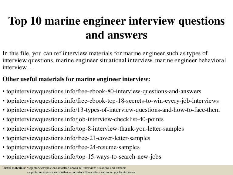 resume of martin leduc licensed canadian marine engineer top10marineengineerinterviewquestionsandanswers 150413064328 conversion gate01 thumbnail 4 jpg cb - Sample Resume For Marine Engineering Cadet