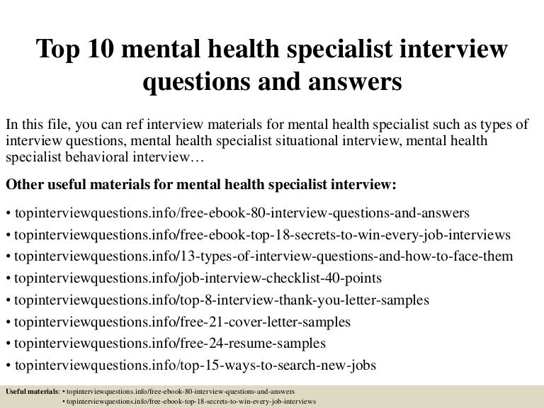 Psychiatric case study examples ebook array top 10 mental health specialist interview questions and answers rh slideshare net top10mentalhealthspecialistinterviewquestionsandanswers fandeluxe Image collections