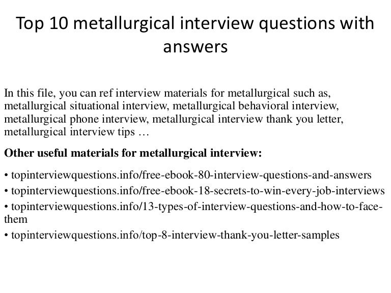 Top 10 metallurgical interview questions with answers fandeluxe Gallery